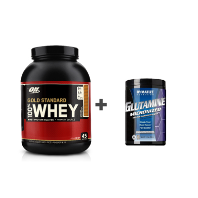 ON 100% Whey Gold Standard 2.27 kg + Glutamine 500 g