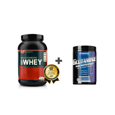ON 100% Whey Gold Standard 908 g + Glutamine 500 g